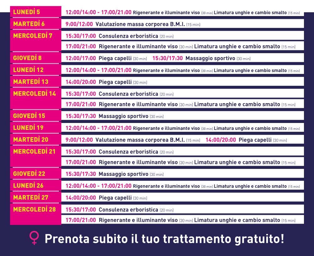 Centro sportivo quadri festeggia la donna project sport for Piscina quadri treviglio